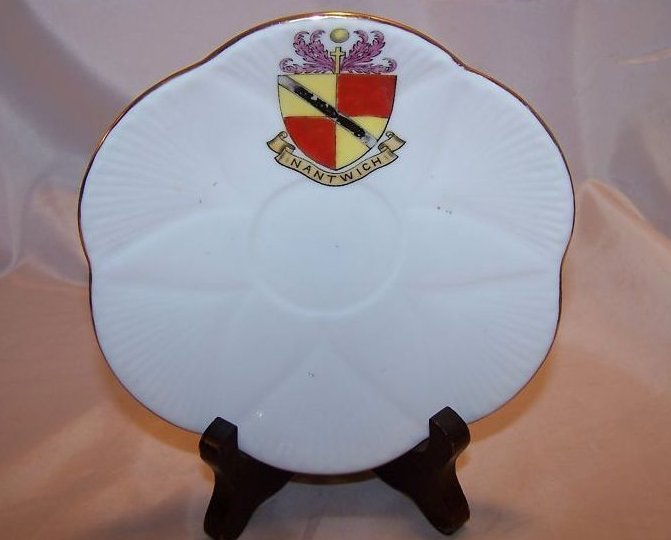 The Foley China Saucer w Inantwich Shield, England