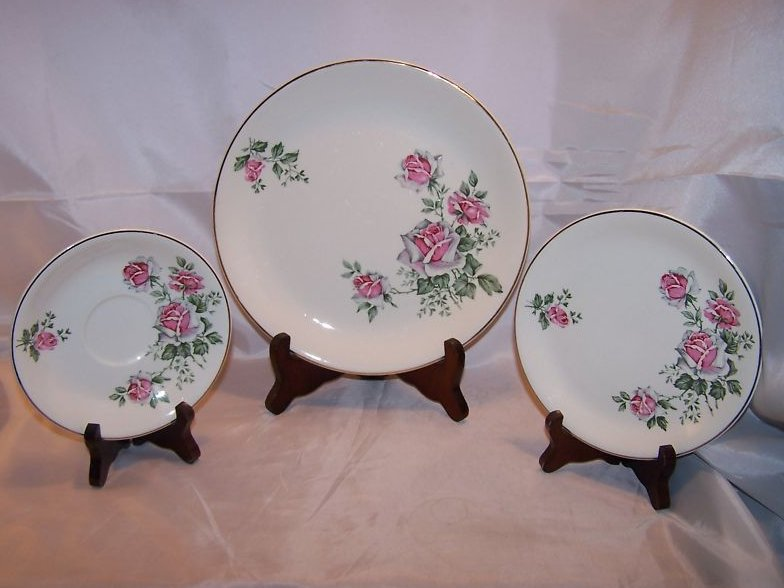 Alfred Meakin Spring Rose Plate Place Setting 3 Piece