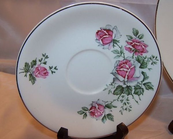 Image 1 of Alfred Meakin Spring Rose Plate Place Setting 3 Piece