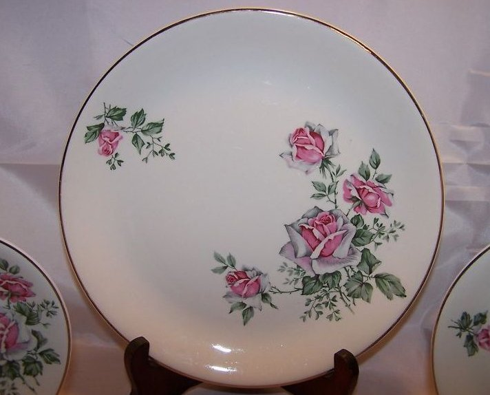 Image 2 of Alfred Meakin Spring Rose Plate Place Setting 3 Piece
