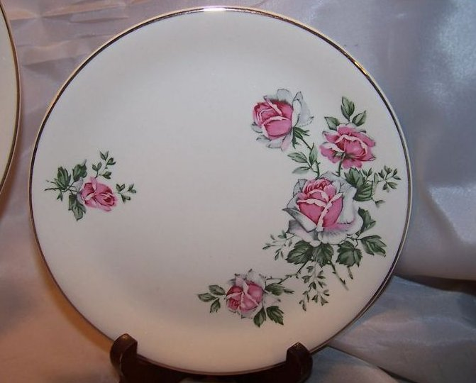 Image 3 of Alfred Meakin Spring Rose Plate Place Setting 3 Piece