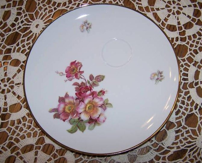 Image 3 of Schumann Arzberg, Bavaria, Wild Rose Plate and Cup Set