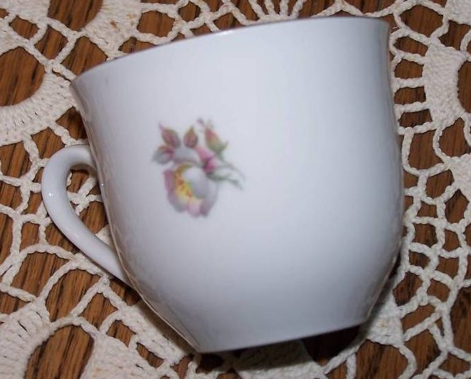 Image 4 of Schumann Arzberg, Bavaria, Wild Rose Plate and Cup Set
