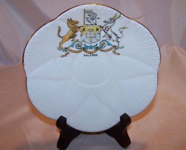 The Foley China Saucer Dish w/ Salford Shield, England