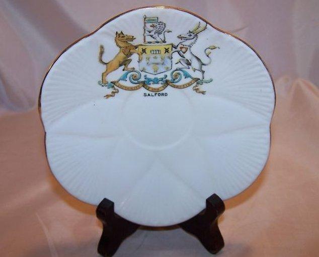 The Foley China Saucer Dish w/ Salford Shield, England