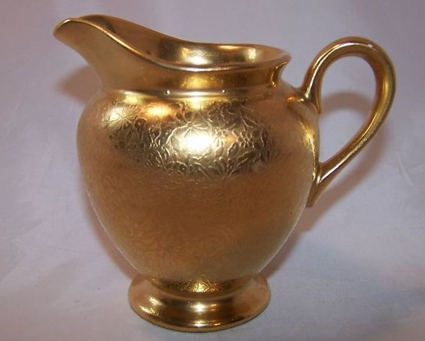 Gold Creamer and Sugar Bowl, Gorgeous, Vintage, Stouffer