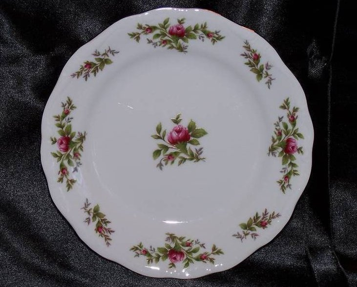 Johann Haviland Moss Rose Pattern Bread Plate