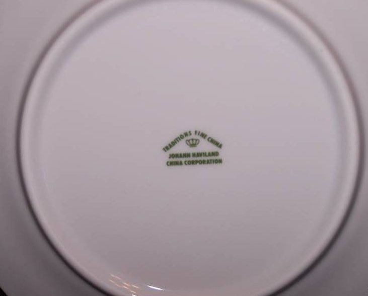 Image 1 of  Johann Haviland Moss Rose Pattern Bread Plate