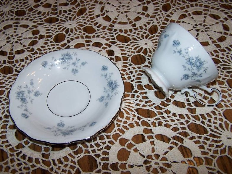 Haviland Germany Saucer Teacup Cup, Cracked Handle