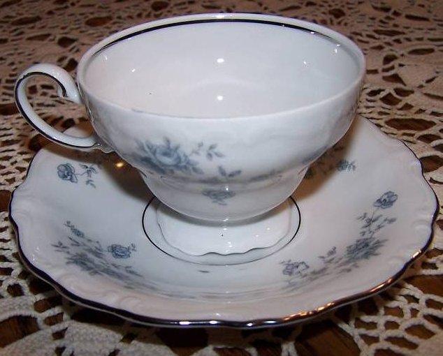 Image 1 of  Johann Haviland Tea Cup, Saucer, Rose and Vine, Rough Rim