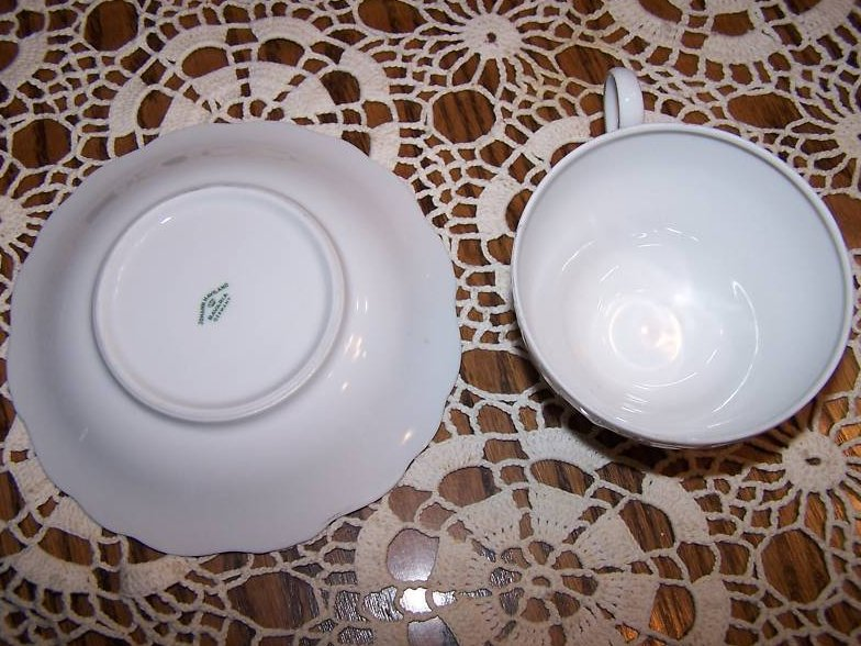 Image 2 of  Johann Haviland Tea Cup, Saucer, Rose and Vine, Rough Rim