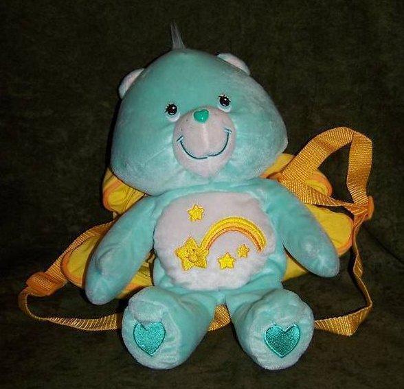Image 0 of Backpack Wish Bear Care Bear Plush, Stuffed Animal