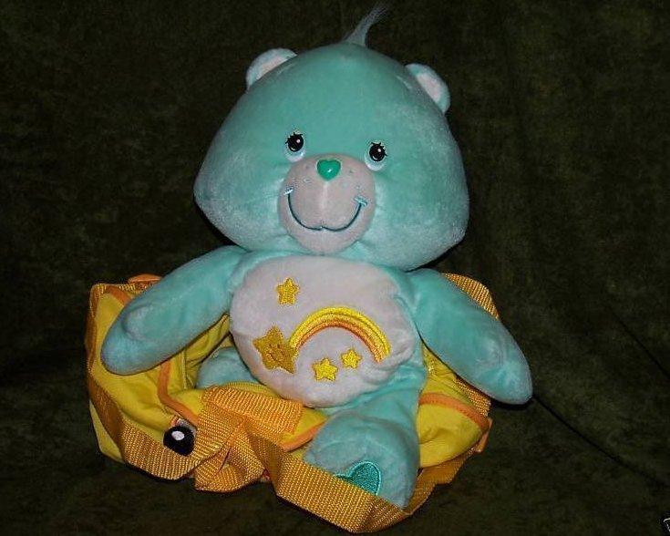 Image 1 of Backpack Wish Bear Care Bear Plush, Stuffed Animal