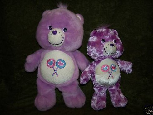 Care Bear Share Bear, Lg and Sm, Plush Stuffed Animal