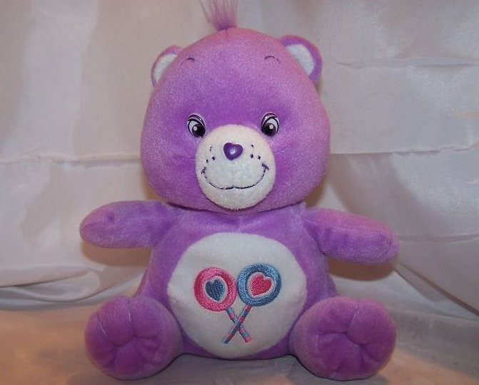 Care Bear Purple Share Bear Plush Stuffed Animal