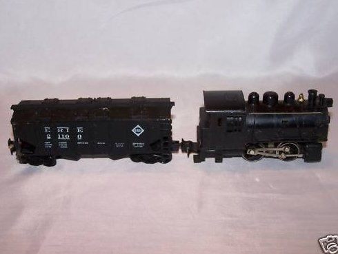 Dockside Electric Train Locomotive, Cargo Car, Model RR