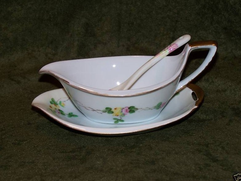 Image 2 of PM Bavaria Gravy Boat, Dish Old World Antique