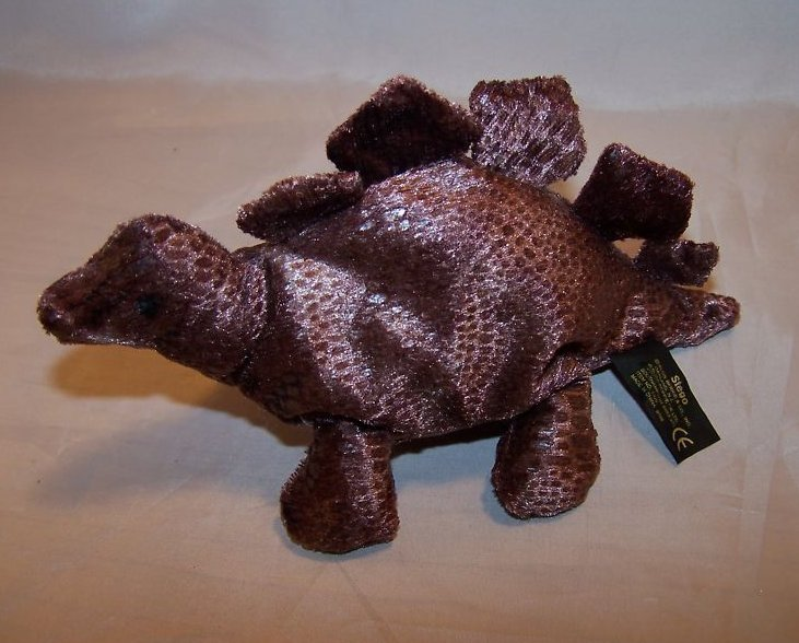 Brown Scaly Stegosaurus Dinosaur Beanie Stuffed Plush
