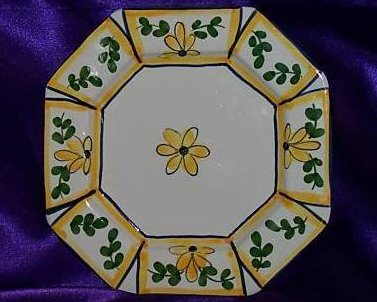 Casa Fina Hand Painted Plate of Portugal, Rijos