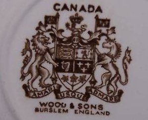 Image 1 of Canadian Mounted Police Officer, Horse Plate, Wood and Sons