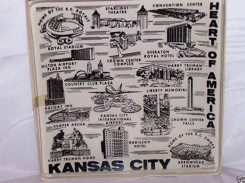 Kansas City Clear Glass Souvenir Plate, Royals Chiefs