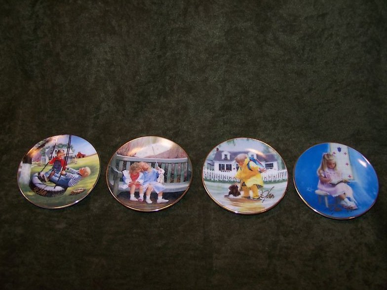 Donald Zolan Ltd Ed 4 Plate Set, Signed, COA