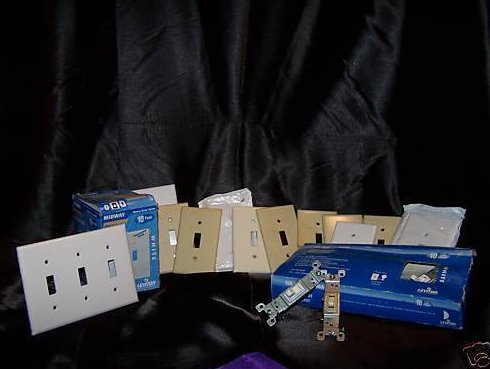 Electrical Switches, Switch Covers, Lot 1