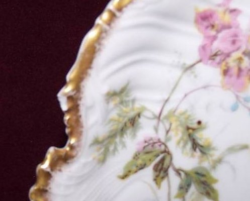 Image 1 of T&V Tressemanes & Vogt Floral Gold Edge Plate, France