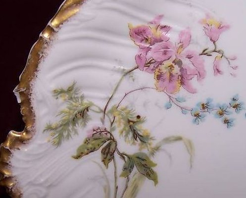 Image 2 of T&V Tressemanes & Vogt Floral Gold Edge Plate, France
