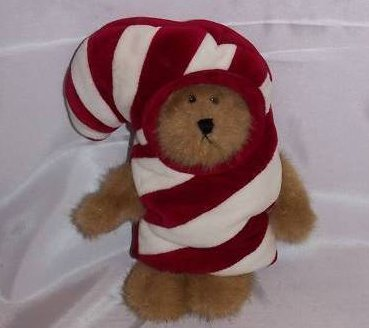 Boyds Bears C.C. Peekers in Candy Cane Costume