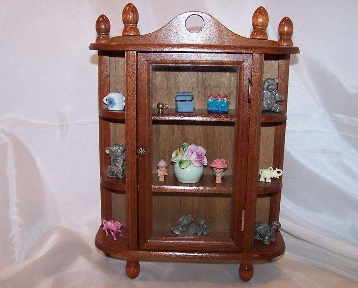 Miniature Curio Cabinet w Knick Knacks, Radnor Flowers