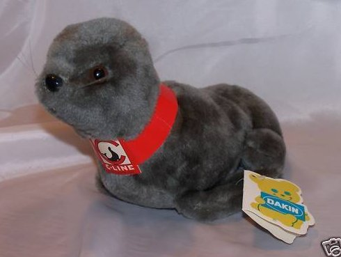 Dakin C-Line Seal Plush Stuffed Animal, Vintage