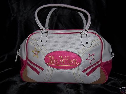 New Mrs. Ben Affleck Pink and White Purse, Handbag, Tote