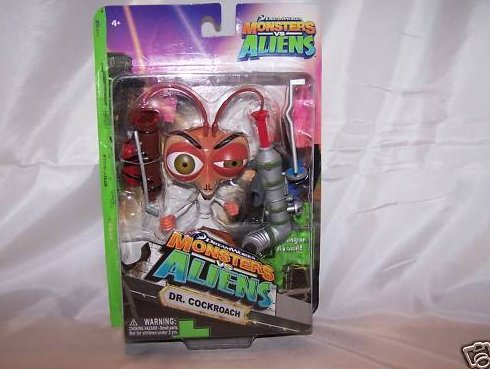 Monsters vs Aliens Dr. Cockroach Action Figure< New