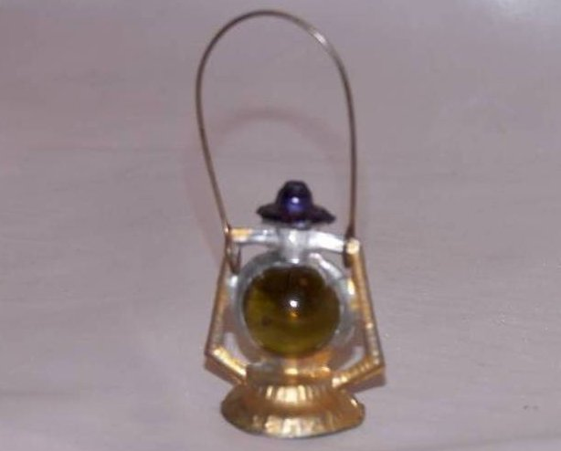Miniature Coleman Metal and Marble Lantern with Handle