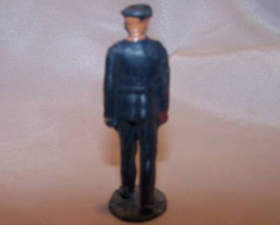 Image 1 of Toy Plastic Officer in Mid-Stride, Dress Uniform