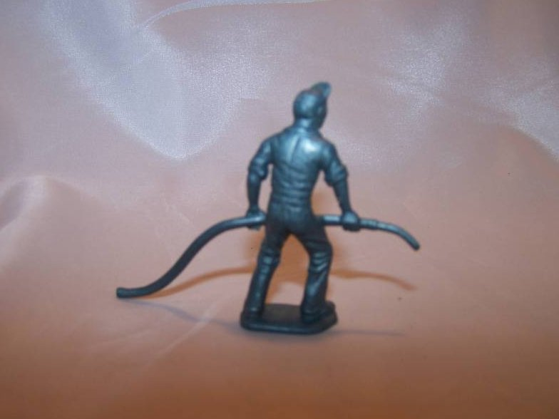 Image 1 of Toy Plastic Air Force Soldier, Carrying Plane Fuel Hose