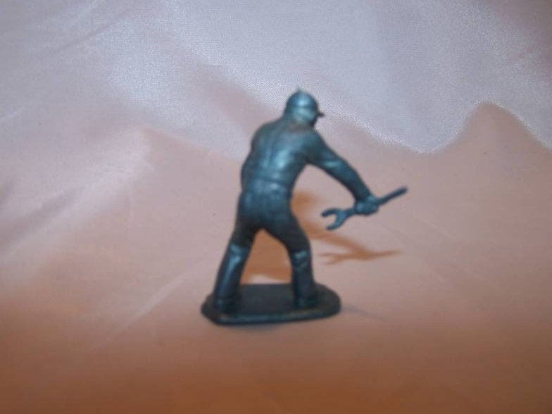 Image 1 of Toy Plastic Air Force Soldier, Carrying Wrench