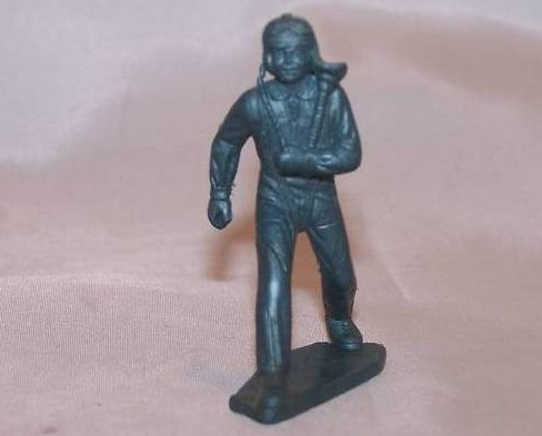Toy Plastic Air Force Pilot, Running
