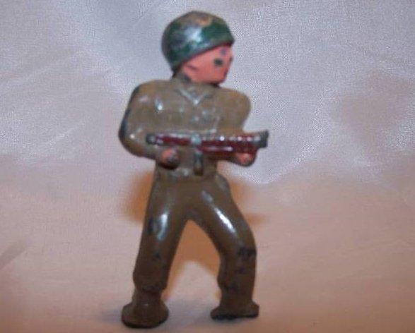 Image 0 of Barclay Metal Soldier with Gun, Helmet, Broken Foot