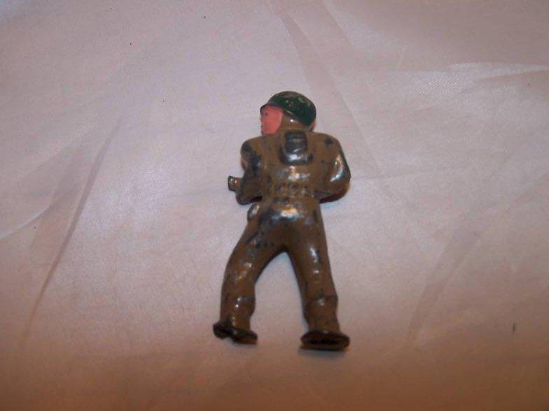 Image 2 of Barclay Metal Soldier with Gun, Helmet, Broken Foot