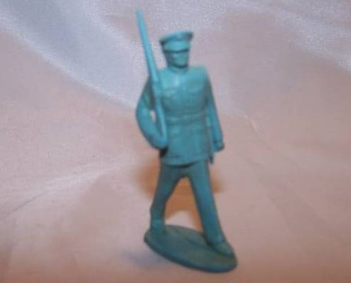 Image 0 of Toy Plastic Soldier w Gun Over Shoulder, Dress Uniform