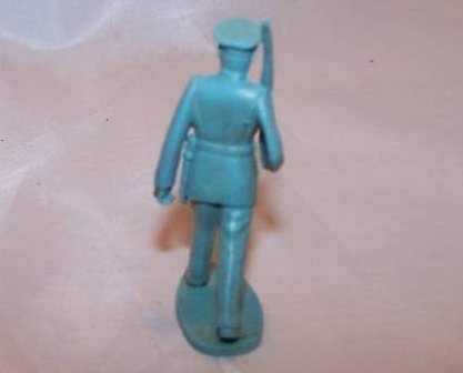 Image 1 of Toy Plastic Soldier w Gun Over Shoulder, Dress Uniform
