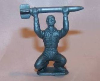 Soldier and Cannon Molded Pewter