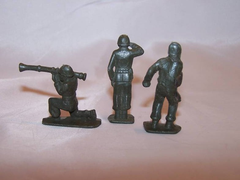 Image 1 of Toy Plastic Army Men, Three Soldiers, Vintage