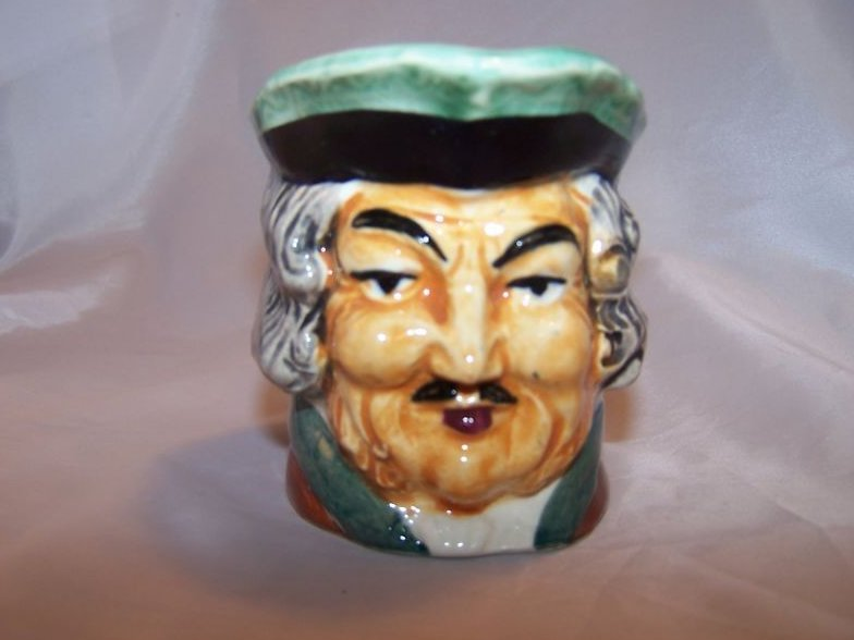 Toby Mug Pitcher Creamer, Man with Mustache
