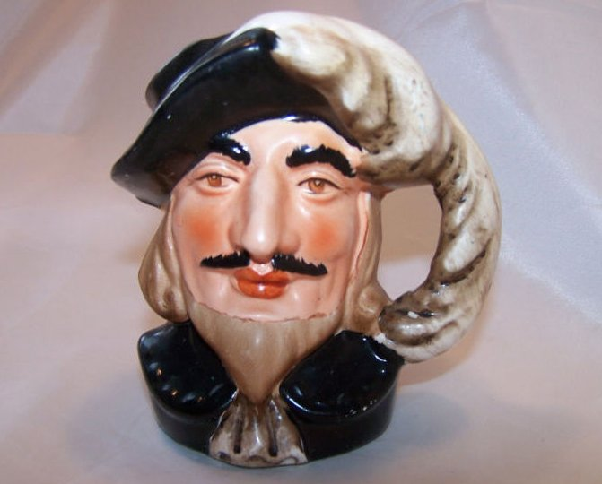 Toby Mug Man in Feathered Cap, Nasco Japan