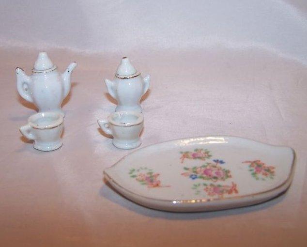 Occupied Japan Miniature Floral Tea Set W Tray Box