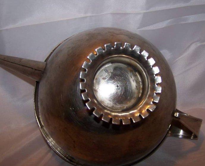 Image 4 of Metal Teapot Tea Pot w Decorative Metalwork