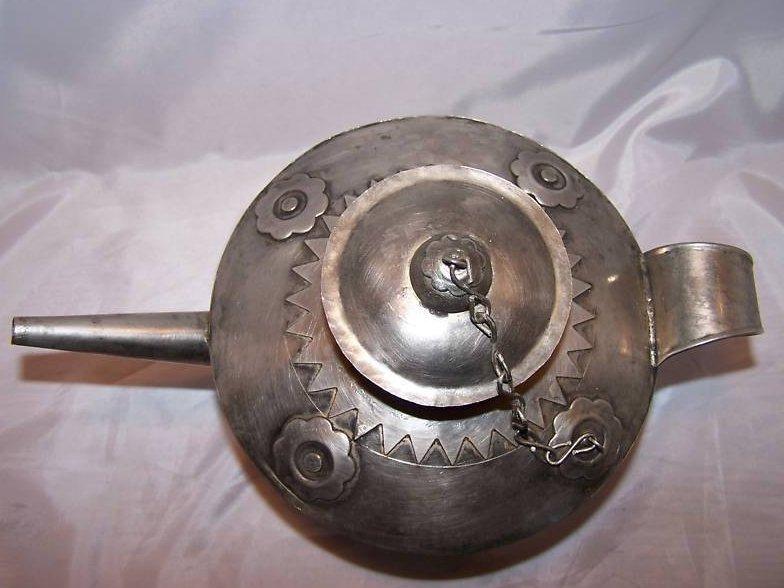 Image 5 of Metal Teapot Tea Pot w Decorative Metalwork